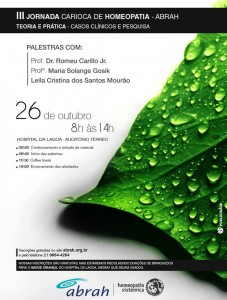 III jornada carioca de homeiopatia ii